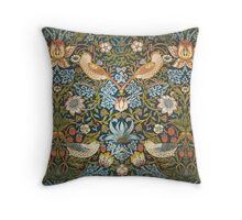 William Morris Pattern Birds and Flowers Throw Pillow