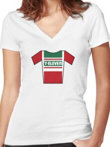 Retro Jerseys Collection - 7-Eleven Women's Fitted V-Neck T-Shirt