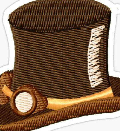 Steampunk Top Hat & Goggles Sticker