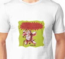 cartoon style voodoo baby with green background Unisex T-Shirt