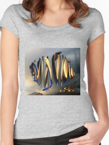 Emperor Penguin Sunset Women's Fitted Scoop T-Shirt