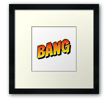 Comic Book Bang Cartoon Framed Print