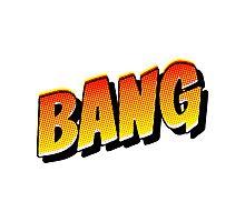 Comic Book Bang Cartoon Photographic Print