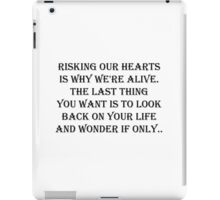 Risking our hearts  iPad Case/Skin