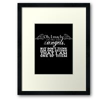 Side of the Angels - Black Framed Print