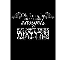 Side of the Angels - Black Photographic Print