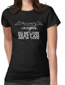 Side of the Angels - Black Womens Fitted T-Shirt