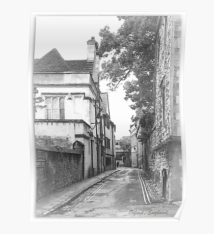Street in Oxford  Poster