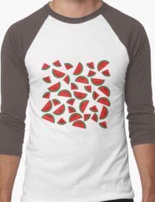 Watermelon chibi pattern Men's Baseball ¾ T-Shirt