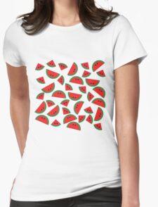 Watermelon chibi pattern Womens Fitted T-Shirt