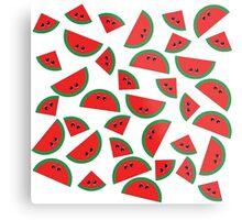 Watermelon chibi pattern Metal Print