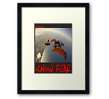 Skydiver by KNOW FEAR WEAR Framed Print