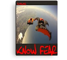 Skydiver by KNOW FEAR WEAR Canvas Print