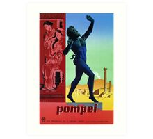 Pompeii Pompei Vintage Italian travel advert Art Print