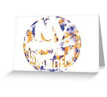 New York Islanders Splatterpaint  Greeting Card