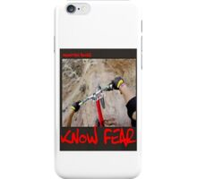 Mountain biker by KNOW FEAR WEAR iPhone Case/Skin