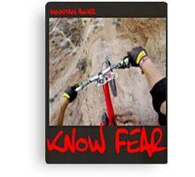 Mountain biker by KNOW FEAR WEAR Canvas Print