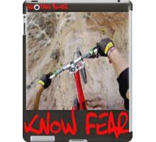 Mountain biker by KNOW FEAR WEAR iPad Case/Skin