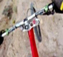 Mountain biker by KNOW FEAR WEAR Sticker