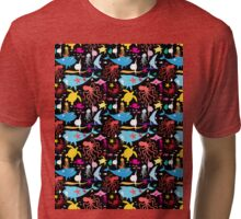 Graphic pattern of marine life Tri-blend T-Shirt