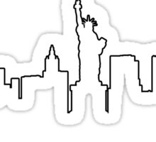 New York cityscape (black line) Sticker