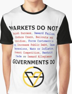 Markets DO NOT, GOVERNMENTS DO by Paine's Torch Graphic T-Shirt