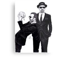Aaron Paul & Bryan Cranston Metal Print