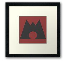 Team Magma (Original Mono version) - PKMN Cosplay Framed Print