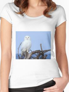 Posing for Playbird Women's Fitted Scoop T-Shirt