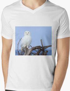 Posing for Playbird Mens V-Neck T-Shirt