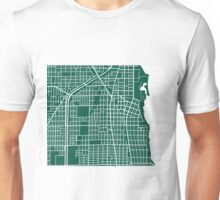 Evanston Map - Dark Green Unisex T-Shirt