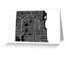 Evanston Map - Black Greeting Card