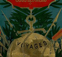 Jules Verne Extraordinary Voyages Sticker