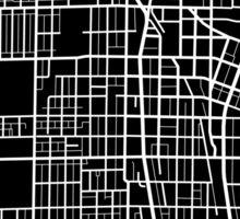 Evanston Map - Black Sticker