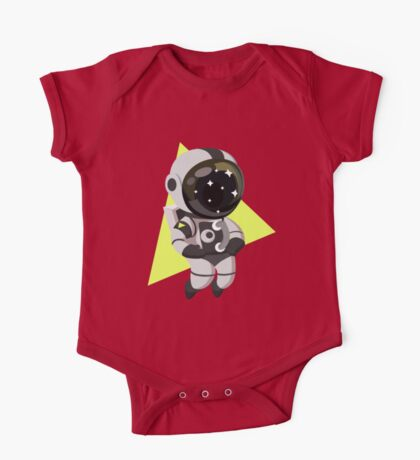 Cute Astronaut Character One Piece - Short Sleeve