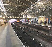 Leeds Train Station - Oil Effect  by Glen Allen