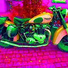 '53 Triumph (3). Retro Pop Art Bike by Mark Haynes Photography