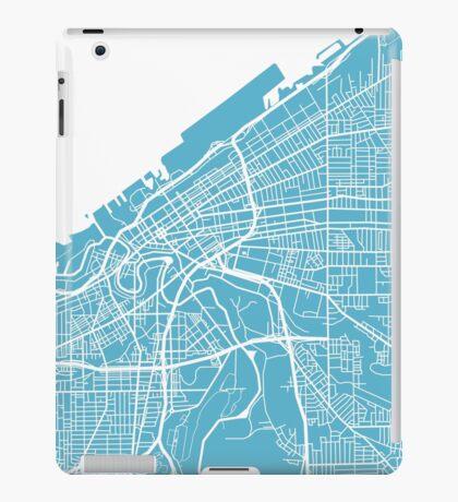 Cleveland Map - Baby Blue iPad Case/Skin
