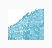 Cleveland Map - Baby Blue Unisex T-Shirt