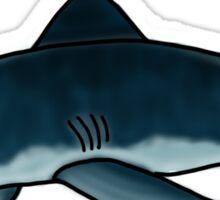 Frustrated Shark Sticker