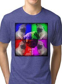 Pugs As KCUF Tri-blend T-Shirt