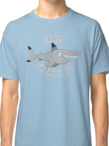 Crazy Shark lady in a circle Classic T-Shirt