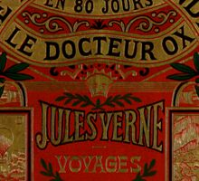 Jules Verne Around The World In Eighty Days Sticker