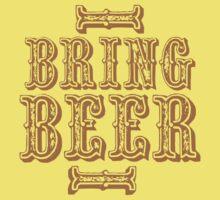 BRING BEER (vintage) Kids Tee