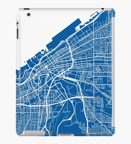 Cleveland Map - Deep Blue iPad Case/Skin