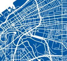 Cleveland Map - Deep Blue Sticker