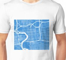 Columbus Map - Light Blue Unisex T-Shirt