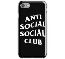 Anti Social Social Club - White iPhone Case/Skin