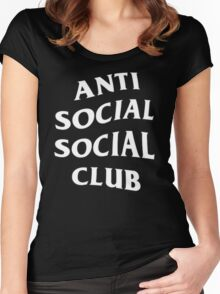 Anti Social Social Club - White Women's Fitted Scoop T-Shirt
