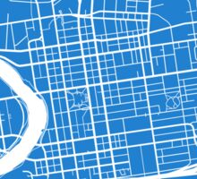 Columbus Map - Light Blue Sticker